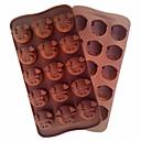 رخيصةأون أدوات الفرن-خنزير رئيس العفن أداة كعكة العفن سيليكون مرنة قالب حلوى الشوكولاته الخبز