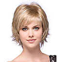 Synthetic Wig Natural Wave Blonde Bob Haircut / Bangs Synthetic Hair Side Part Blonde Wig Women's Short Capless Blonde StrongBeauty