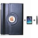 voordelige iPhone 5c hoesjes-hoesje Voor Apple iPad Air 360° rotatie / met standaard / Automatisch aan / uit Volledig hoesje Effen PU-nahka