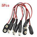 ieftine Conectoare & Terminale-5 buc baterie 9v experimentale adaptor cablu de alimentare de completare snap pentru pi zmeură Arduino