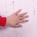 رخيصةأون خواتم-عصابة الفرقة فضي سبيكة Circle Shape سيدات أوروبي أسلوب بسيط مناسب للبس اليومي فضفاض مجوهرات قابل للتعديل