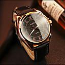 رخيصةأون ساعات الرجال-YAZOLE رجالي ساعة المعصم كوارتز جلد أسود / بني عرض ساخن مماثل كلاسيكي كاجوال - أسود