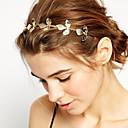 رخيصةأون مجوهرات الشعر-نسائي للفتيات أساسي الطبيعة أسلوب بسيط مطلية بالذهب سبيكة رباطات شعر زفاف مناسب للحفلات / Leaf Shape
