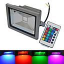 ieftine Proiectoare LED-1 buc 20 W 6000-6500/3000-3200 lm 1 LED-uri de margele COB Rezistent la apă Telecomandă Alb Cald Alb Rece RGB 85-265 V