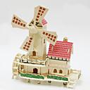 رخيصةأون الستائر-قطع تركيب3D تركيب خشبي النماذج الخشبية طاحونة هوائية خشب للصبيان للفتيات ألعاب هدية