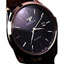ieftine Ceasuri Damă-Bărbați Ceas de Mână Quartz Oțel inoxidabil Negru / Maro Rezistent la Apă Calendar Analog Charm Clasic - Negru Maro / Alb Etiopia Un an Durată de Viaţă Baterie / KC 377A