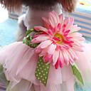 ieftine Breloage-Câine Rochii Îmbrăcăminte Câini Roz Costume Terilenă Floare Sweet Style Nuntă Modă S M L XL XXL