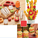 7Pcs Fruit Salad Carving Vegetable Fruit Arrangements Smoothie Cake Tools Kitchen Dining Bar Cooking Accessories Supplies Products