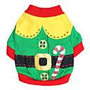ieftine Audio & Video-Pisici Câine Costume Tricou Îmbrăcăminte Câini Respirabil Verde Rosu Costume Bumbac Cosplay Modă Halloween XXS XS S M L