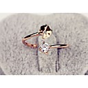 رخيصةأون خواتم-نسائي خاتم الماس الاصطناعي الذهب-وردي سبيكة سيدات موضة زفاف مناسب للحفلات مجوهرات حجران