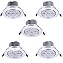 ieftine Becuri LED Încastrate-HRY 5pcs 7 W Spoturi LED LED Ceilling Light Recessed Downlight 7 LED-uri de margele LED Putere Mare Decorativ Alb Cald Alb Rece 85-265 V / RoHs / 90