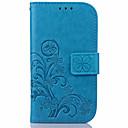 voordelige Galaxy S2 Hoesjes / covers-hoesje Voor Samsung Galaxy S7 edge / S7 / S6 edge plus Portemonnee / Kaarthouder / met standaard Volledig hoesje Bloem PU-nahka