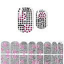 ieftine Imbracaminte & Accesorii Căței-minunat korea negru diamant diy autocolante 3d unghii