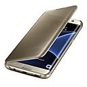 رخيصةأون حافظات / جرابات هواتف جالكسي S-غطاء من أجل Samsung Galaxy S8 Plus / S8 / S7 edge نوم / استيقاظ أتوماتيكي / تصفيح / مرآة غطاء كامل للجسم لون سادة الكمبيوتر الشخصي / شفاف