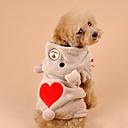 povoljno Odjeća za psa i dodaci-Mačka Pas Kostimi Hoodies Zima Odjeća za psa Braon Sive boje Kostim Velvet Imajte Cosplay XS S M L XL