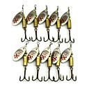 povoljno Digitalne vage-10 pcs Csali Mamac buzzbait i spinnerbait Žlice Spinner Baits Sinking Brzo Potonuće Bass Pastrva Štuka Morski ribolov Slatkovodno ribarstvo Ribolovni mamac Perje Metal / Općenito Ribolov