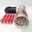 ieftine Becuri LED Bi-pin-Lanterne LED Rezistent la apă Reîncărcabil 9600lm LED LED 8 emițători 3 Mod Zbor cu Baterii și Încărcătoare Rezistent la apă Reîncărcabil Vedere nocturnă Camping / Cățărare / Speologie Utilizare