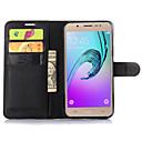 رخيصةأون حافظات / جرابات هواتف جالكسي J-غطاء من أجل Samsung Galaxy J7 / J5 / J2 محفظة / حامل البطاقات / مع حامل غطاء كامل للجسم لون سادة جلد PU
