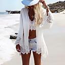 رخيصةأون أقراط-أبيض حجم واحد دانتيل لون سادة, ملابس السباحة تغطية الجسم أبيض بوهو بوهو نسائي / قطع واحدة