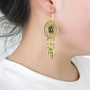 ieftine Spoturi LED-Pentru femei Cercei Stud Pană Personalizat Ciucure European Stilul Folk cercei Bijuterii Bronz / Argintiu Pentru Petrecere Zilnic Casual