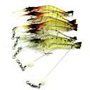 ieftine Momeală Pescuit-1 pcs Δόλωμα Crevetă Scufundare Bass Păstrăv Ştiucă Aruncare Momeală Momeală pescuit Pescuit cu undițe tractate & Pescuit din barcă Plastic