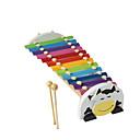 رخيصةأون خزانة سطح المكتب-الخشب الأصفر يد الطفل تدق البيانو للأطفال في جميع الآلات الموسيقية لعبة
