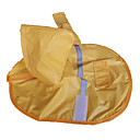 رخيصةأون ملابس وإكسسوارات الكلاب-كلب معطف المطر ملابس الكلاب أصفر كوستيوم نايلون مقاومة الماء XS S M L