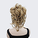 رخيصةأون وصلات شعر مستعار-Clip In ذيل الحصان شعر مستعار صناعي قطعة الشعر إطالة الشعر تمويج طبيعي