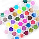 ieftine Îngrijire Unghii-1set 45pcs Pudră Pulbere / Pudră Glitters / Abstract Costume
