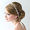 povoljno Nakit za kosu-puna kristala cvijet ručno vrpcom od satena čipke glavu za svatove dama kose nakita