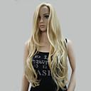 ieftine Kids' Hair Jewelry-Peruci Sintetice Ondulat Ondulat Cu breton Perucă Blond Lung Blond Păr Sintetic Pentru femei Păr Balayage / Șuvițe Partea laterală Blond Hivision