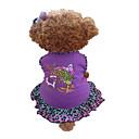 رخيصةأون تزيين المنزل-كلب الفساتين ملابس الكلاب أرجواني كوستيوم قطن قلب حيوان XXS XS S M