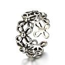 ieftine Inele-Unisex Band Ring Inel reglabil degetul mare Argintiu Plastic Argintiu femei Neobijnuit Design Unic Zilnic Casual Bijuterii Floare