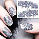 hesapli Tırnak Bakımı-1 pcs Su Transferi Sticker tırnak sanatı Manikür pedikür Moda Günlük
