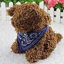 رخيصةأون أطواق ومقاود الكلاب-قط كلب باندانا الياقة موضة زهور قماش أحمر أزرق زهري