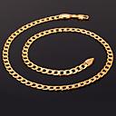 ieftine Coliere-Pentru femei Lănțișoare Coliere Figaro lanț chunky femei Modă Dubai Placat Auriu Aur Alb 18K de aur umplut Argintiu Auriu Roz auriu Coliere Bijuterii Pentru Cadouri de Crăciun Nuntă Petrecere Ocazie