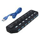povoljno Kučišta za tvrde diskove-USB 3.0 7 portova / Sučelje USB hub sa zasebnim prekidačem 15,8 * 45 * 2