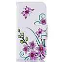 ieftine Imbracaminte & Accesorii Căței-Maska Pentru Apple iPhone 6s Plus / iPhone 6s / iPhone 6 Plus Titluar Card / Întoarce Carcasă Telefon Floare Moale PU piele
