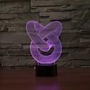 ieftine LED-uri-3D Nightlight Intensitate Luminoasă Reglabilă USD 1 piesă