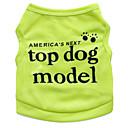 رخيصةأون أدوات الحمام-قط كلب T-skjorte ملابس الكلاب الأزهار / النباتية أخضر أزرق زهري تيريليني كوستيوم من أجل الصيف رجالي نسائي موضة