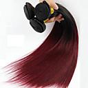 رخيصةأون باروكات اصطناعية-1 حزمة شعر برازيلي مستقيم كلاسيكي شعر عذراء ظل 16-24 بوصة ظل ينسج شعرة الإنسان شعر إنساني إمتداد / 10A