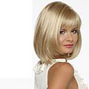 ieftine Peruci & Extensii de Păr-Peruci Sintetice Drept Drept Cu breton Perucă Blond Scurt Mediu Blond Păr Sintetic Pentru femei Partea laterală Blond hairjoy