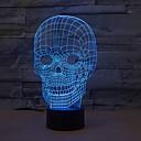 ieftine Carcase iPhone-craniu lumina de noapte 3d colorată schimbarea culorilor tematice halloween usb dimmable 1 buc