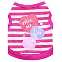 baratos Acessórios & Roupas para Cachorros-Gato Cachorro Camiseta Roupas para Cães Respirável Roxo Azul Rosa claro Ocasiões Especiais Algodão Coração Fashion XS S M L