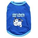 رخيصةأون حافظات / جرابات هواتف جالكسي A-قط كلب T-skjorte ملابس الكلاب حيوان أزرق قطن كوستيوم من أجل الصيف رجالي نسائي موضة