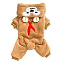 ieftine Machiaj Halloween-Pisici Câine Salopete Cravată / Papion Iarnă Îmbrăcăminte Câini Maro Gri Costume Animal Keep Warm Modă S M L XL XXL