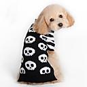ieftine Costume Cosplay-Pisici Câine Pulovere Iarnă Îmbrăcăminte Câini Negru Costume De Lână Cranii Modă Halloween XXS XS S M L