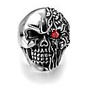 ieftine Ceasuri Bărbați-Bărbați Inel de declarație Argintiu Oțel titan Petrecere / Seară Designer  Punk & Gotic Cadou Zilnic Bijuterii Gravat Mexican Sugar Craniu Cool