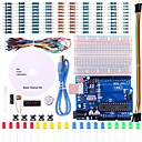 cheap Motherboards-UNO Project Basic Starter Kit with Tutorial and UNO R3 for Arduino