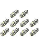 ieftine Lumini de Interior Mașină-10pcs BA9S Mașină Becuri 1 W SMD 5050 120 lm 5 LED Bec Semnalizare For Παγκόσμιο